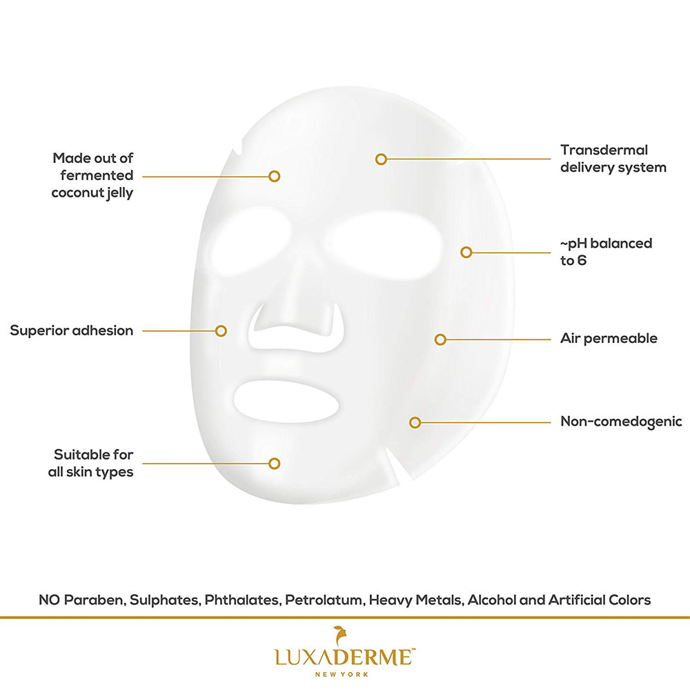 LuxaDerme Brightening Bio Cellulose Face Sheet Mask