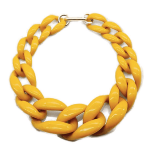Chunky Yellow Chain Necklace