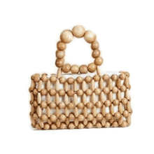 Load image into Gallery viewer, Doris Beige Beaded Bag