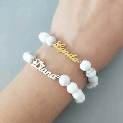 Belluxa Personalized Beaded Bracelet