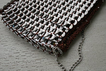 Load image into Gallery viewer, Beaded Brown Can Tab Handbag - Hooking Hands