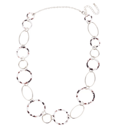 Oval and Round Statement Necklace