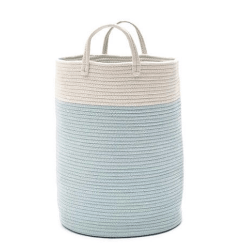 Knitted Cotton Rope Storage Basket with Handles