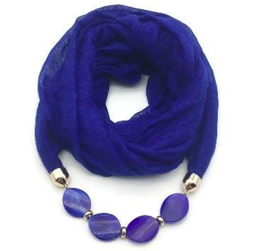 Scarf Necklace with Oval Beads