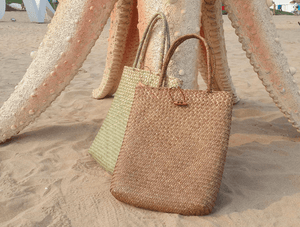 Long Vintage Straw Bag