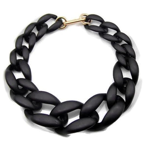 Black Acrylic Bold Necklace