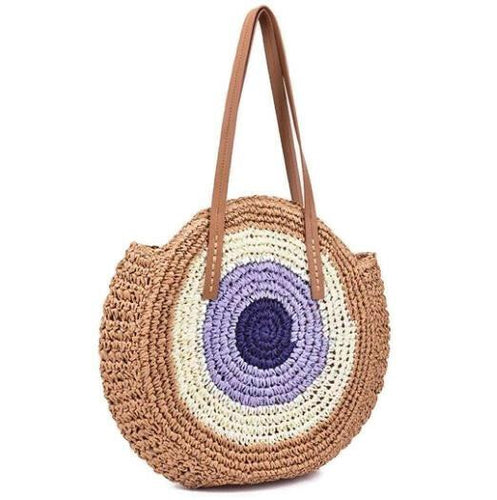 Gina Straw Shoulder Bag