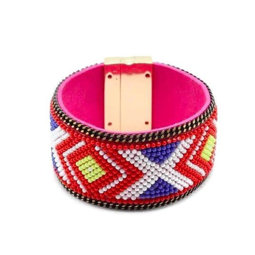 Brazilian Beaded Bangle Bracelet