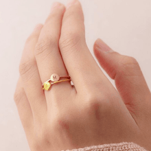Load image into Gallery viewer, Bliss Owl Stackable Letter Ring