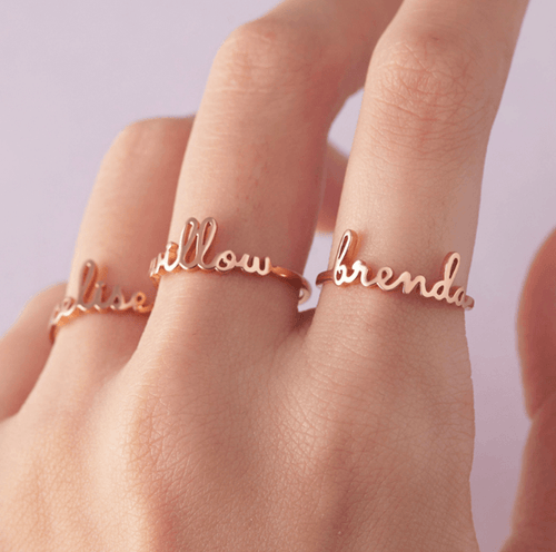 Infamiss Cursive Writing Ring