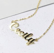 Load image into Gallery viewer, Verana Cursive Writing Name Necklace