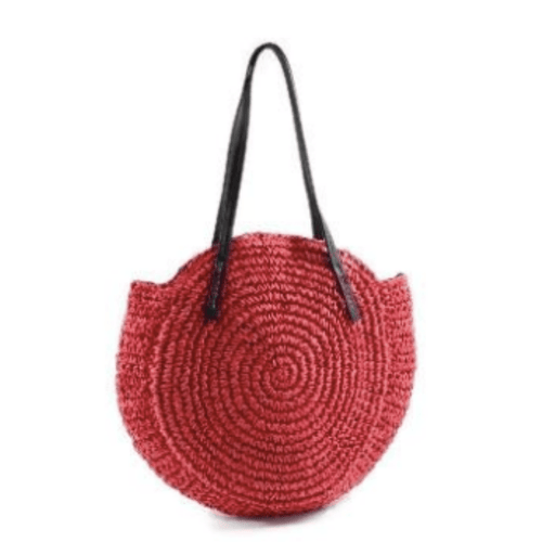 Adi Raffia Circle Rattan Bag