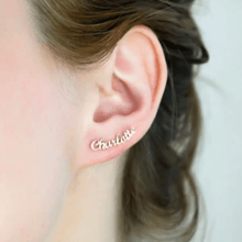 Load image into Gallery viewer, Monvelli Stud Name Earrings