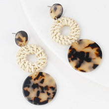Load image into Gallery viewer, Bamboo Long Drop Earrings