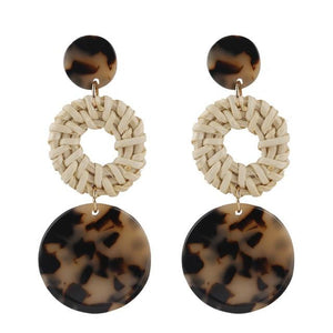 Bamboo Long Drop Earrings