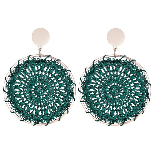 Hand Knitted Bold Earrings