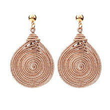 Load image into Gallery viewer, Spiral Round Vintage Statement Earrings