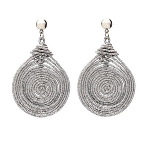 Spiral Round Vintage Statement Earrings