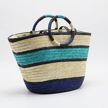 Load image into Gallery viewer, Chloe Bamboo Handle Beach Bag