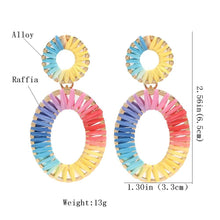 Load image into Gallery viewer, Colorful Raffia Earrings