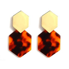 Load image into Gallery viewer, Colorful Hexagon Acrylic Earrings