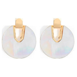 Vintage Round Resin Acrylic Earrings