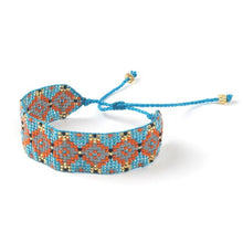 Load image into Gallery viewer, Geometric Hand Woven Beaded Bracelet