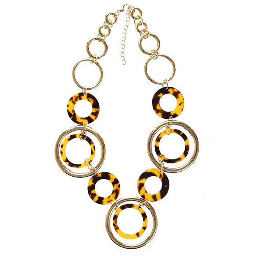 Leopard Acrylic Statement Necklace