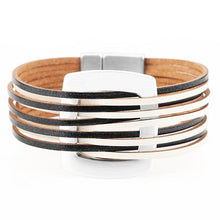 Load image into Gallery viewer, Metal Charm Multilayer Wide Bracelet