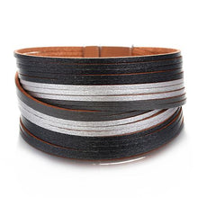 Load image into Gallery viewer, Vintage Magnetic Clasp Leather Bracelet
