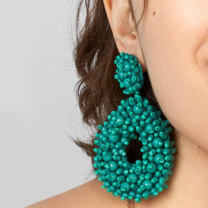 Boho Handmade Beaded Bold Earrings