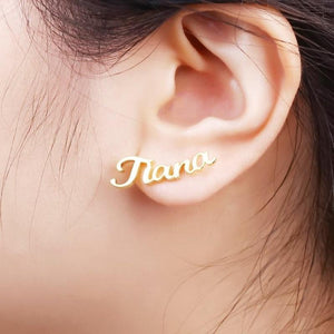 Monvelli Stud Name Earrings