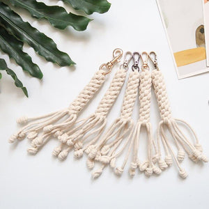 Macrame Braided Rope Bag Charm