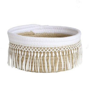Cute Fringe Cotton Rope Storage Bin