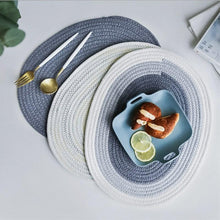 Load image into Gallery viewer, Oval Cotton Rope Hand Woven Placemats