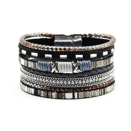 Mixed Layers Leather Bracelet
