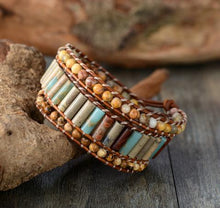 Load image into Gallery viewer, Three Layers Boho Leather Wrap Bracelet