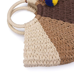 Semi-Circle Summer Straw Bag