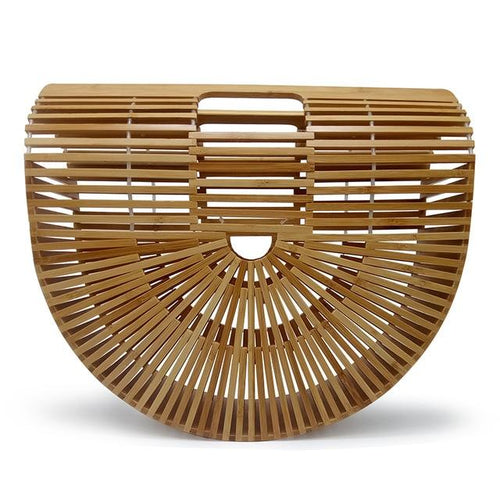Geometrical Natural Wood Clutch Bag (Small & Large) - Hooking Hands
