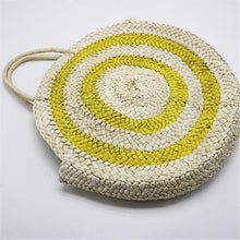 Load image into Gallery viewer, Handmade Round Rattan Woven Shoulder Bag - Hooking Hands