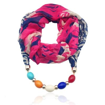 Bohemian Scarf Necklace with Beads - Hooking Hands
