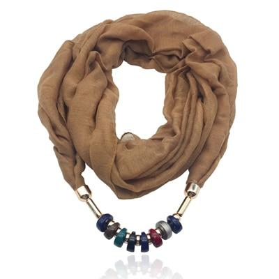 Fashion Beads Scarf Necklace - Hooking Hands