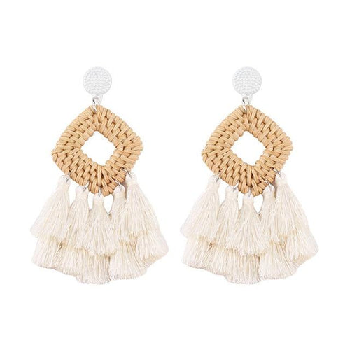 Bohemian Tassel Drop Dangle Earrings - Hooking Hands