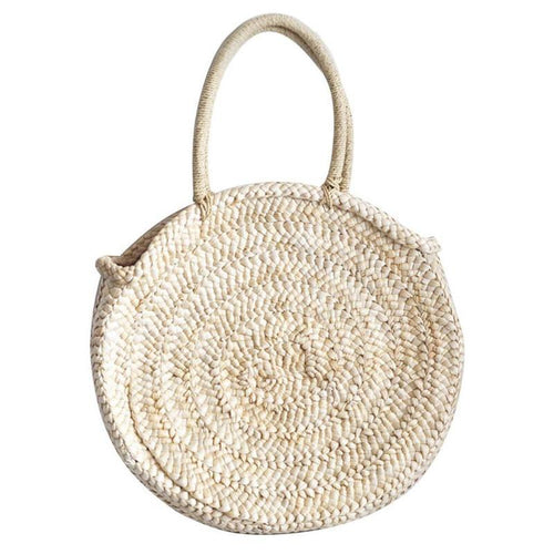 Sheila Straw Basket Bag