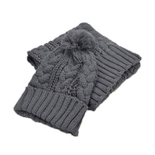 Load image into Gallery viewer, Winter Warm Knit Ski Hat & Scarf Set