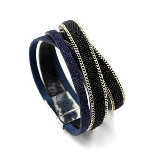 Magnetic Clasp Long Chain Bracelet