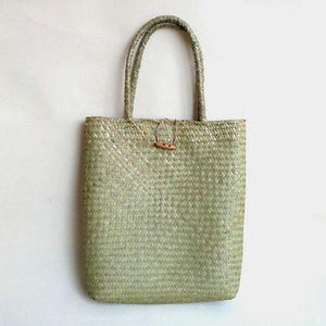 Long Vintage Straw Bag - Hooking Hands