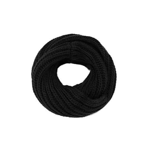 Black Modern Casual Knit Infinity Scarf - Hooking Hands