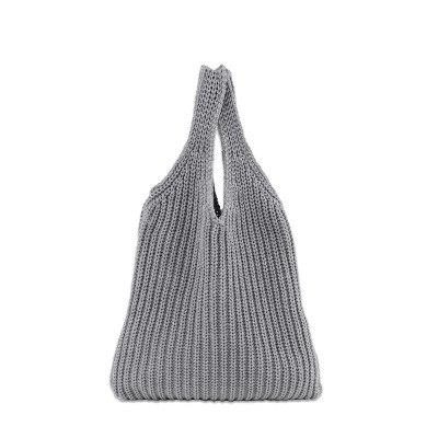 Knitted Cotton Wool Bag - Hooking Hands