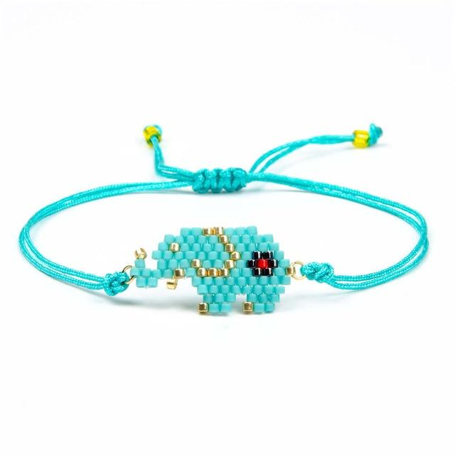 Beaded Elephant Bracelet - Hooking Hands